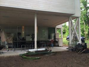 サロン増築とアウトドア用作業スペース/設備